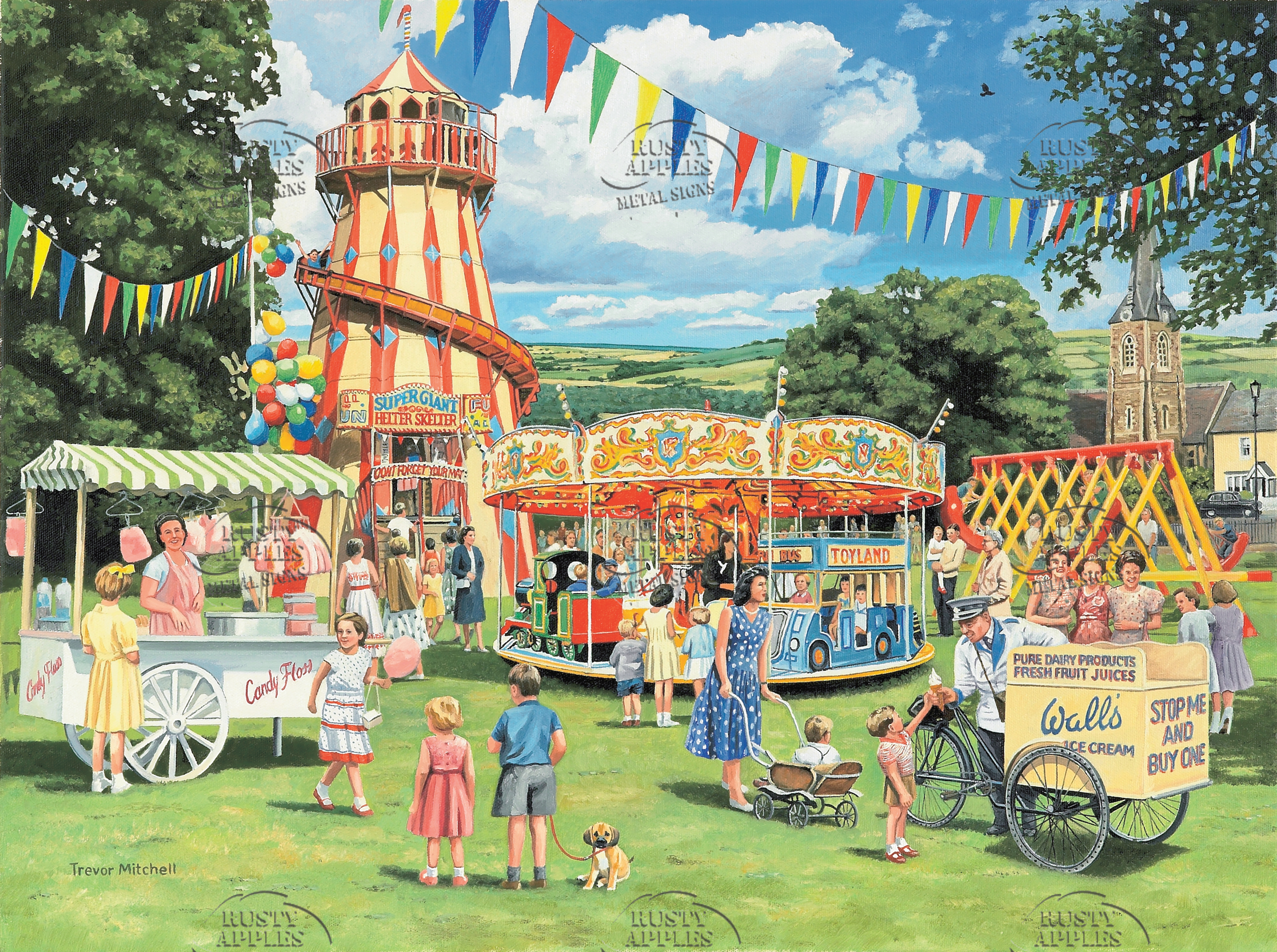 "1960's Vintage ""Funfair On The Green"""