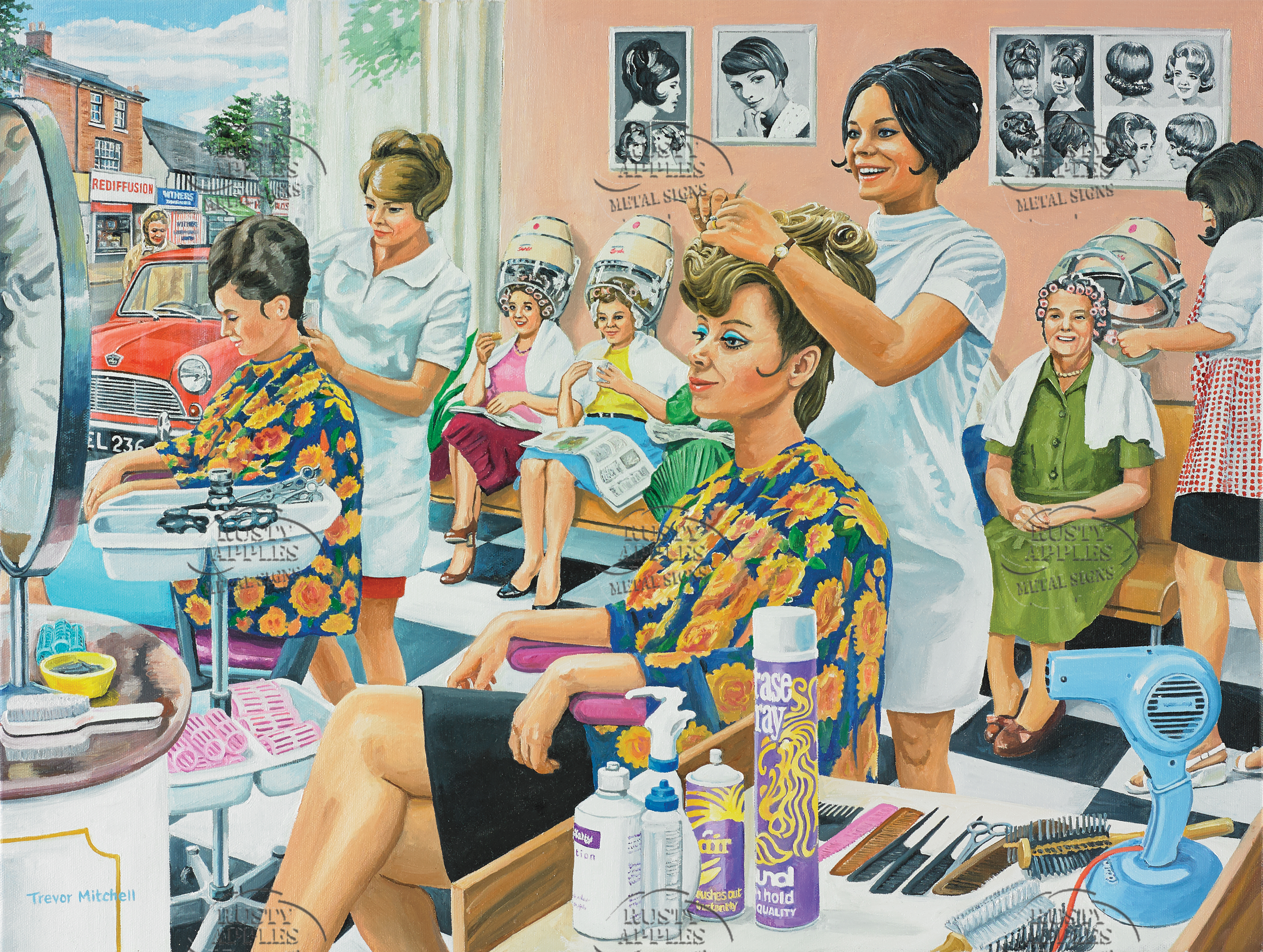 1970's Typical Day In The Hairdressers