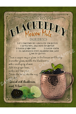 Blackberry Moscow Mule Cocktail