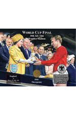 The World Cup 1966 Threepenny Coin