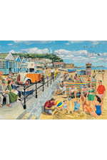 British 1950's Seaside Resort Beach