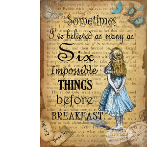 Alice In Wonderland Six Impossible Things