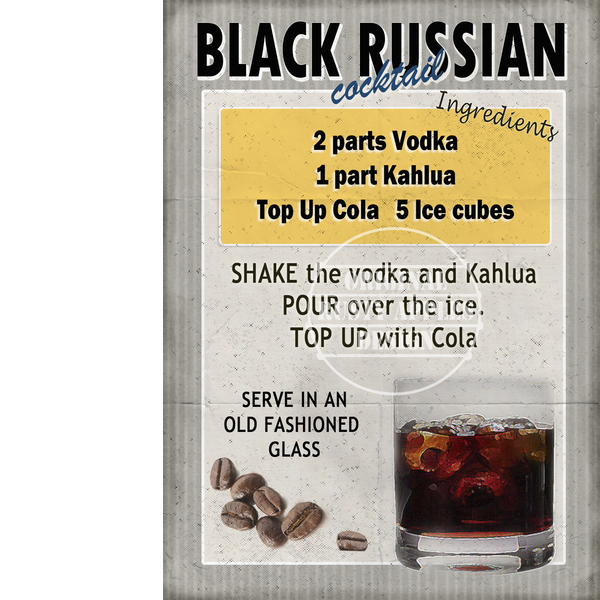 Black Russian Cocktail 2